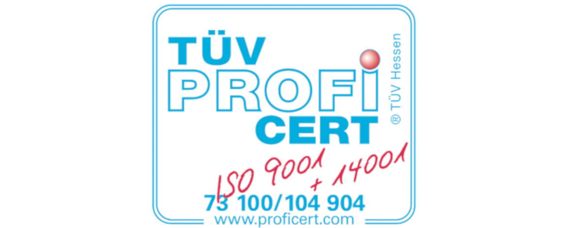 Certification according to ISO 14001